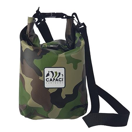 Capaci Waterproof tas in camoeflage print
