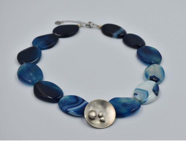 Warda Marica Jewelry Agaath Blauwe ketting